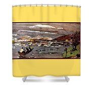 Boating In River Shower Curtain