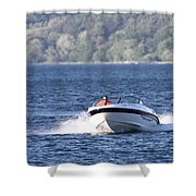 Boating On Grand Traverse Bay Shower Curtain