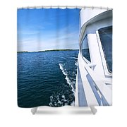 Boating On Lake Shower Curtain