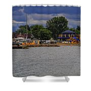 Boating On Lake Erie Shower Curtain