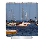 Boating On Long Island Sound Shower Curtain by Joann Vitali