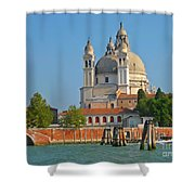 Boating Past Basilica Di Santa Maria Della Salute  Shower Curtain