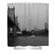 Boating Under The Bridge Shower Curtain
