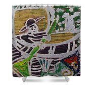 Boatman On The River  Shower Curtain