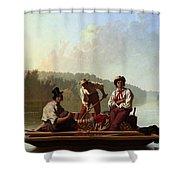 Boatmen On The Missouri Shower Curtain