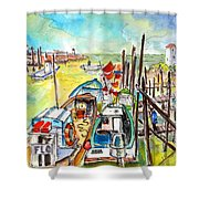 Boats And Boardwalks By Brittany 02 Shower Curtain