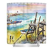 Boats And Boardwalks By Brittany 01 Shower Curtain
