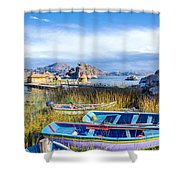 Boats And Floating Islands Shower Curtain