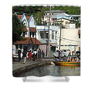 Boats And Telephones Shower Curtain