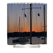 Boats At Beaufort Shower Curtain