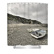 Boats At Bude  Shower Curtain