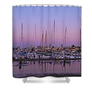 Boats At Dusk 2 Shower Curtain