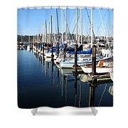 Boats At Rest. Sausalito. California. Shower Curtain