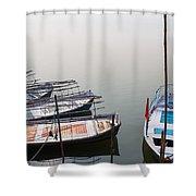 Boats At Sangam Shower Curtain