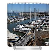 Boats At The San Francisco Pier 39 Docks 5d26004 Shower Curtain