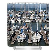 Boats At The San Francisco Pier 39 Docks 5d26009 Shower Curtain