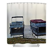 Boats By The Dock Shower Curtain