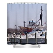 Boats Docked Shower Curtain