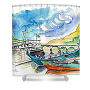 Boats In Barca De Alva 02 Shower Curtain