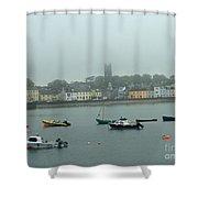 Boats In Irish Sea Shower Curtain