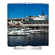 Boats In Port 3 Shower Curtain