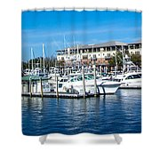Boats In Port 5 Shower Curtain