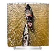 Boats In The Mekong River - Vietnam Shower Curtain