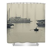 Boats In The Pacific Ocean, Bai Chay Shower Curtain