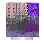 Boats Infinite Shower Curtain