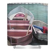 Boats Of The Lighthouse Shower Curtain