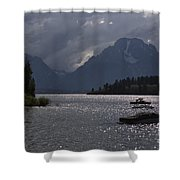 Boats On Jackson Lake - Grand Tetons Shower Curtain