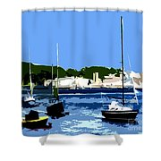 Boats On Strangford Lough Shower Curtain