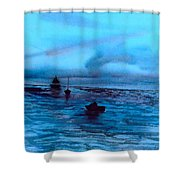 Boats On The Chesapeake Bay Shower Curtain