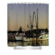 Boats Pano Shower Curtain