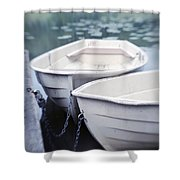 Boats Shower Curtain by Priska Wettstein