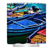 Boats Snuggling - Sicily Shower Curtain