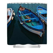 Boats Trio Shower Curtain