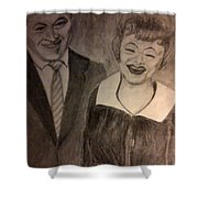 Bob And Lucy Shower Curtain