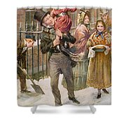 Bob Cratchit And Tiny Tim Shower Curtain
