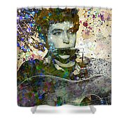 Bob Dylan Original Painting Print Shower Curtain