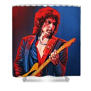 Bob Dylan Painting Shower Curtain