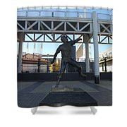 Bob Feller Bronze Statue Shower Curtain