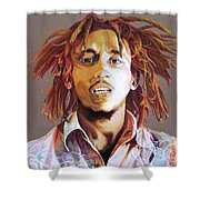 Bob Marley Earth Tones Shower Curtain