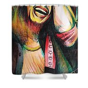 Bob Marley In Agony Shower Curtain