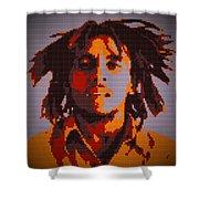 Bob Marley Lego Pop Art Digital Painting Shower Curtain