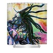 Bob Marley Singing Portrait.1 Shower Curtain
