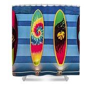 Bob Marley Surfing Display Shower Curtain