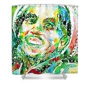 Bob Marley Watercolor Portrait.2 Shower Curtain