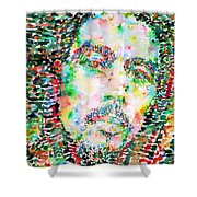 Bob Marley Watercolor Portrait.3 Shower Curtain