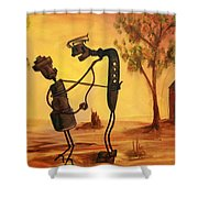 Bob 'n' Betty - Broken Hill Shower Curtain